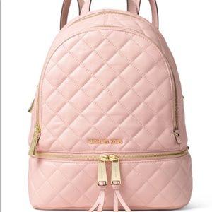Michael Kors Pink Cushioned Medium Backpack